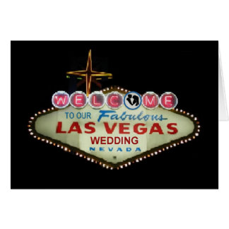 Welcome TO OUR Las Vegas Wedding Bride & Groom Car Greeting Card