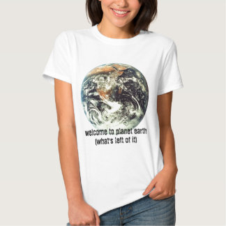 welcome to planet earth tshirts