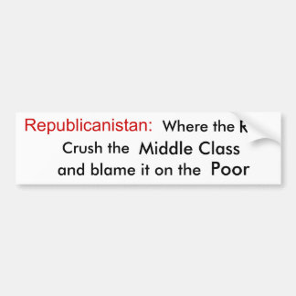 Welcome to Republicanistan Bumper Sticker