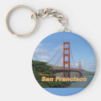 Welcome to San Francisco - Golden Gate Bridge Key Ring