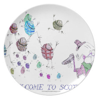 welcome to scotland plate