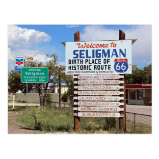 Welcome To Seligman Route 66 Postcard! Postcard
