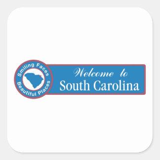 Welcome to South Carolina - USA Road Sign Sticker