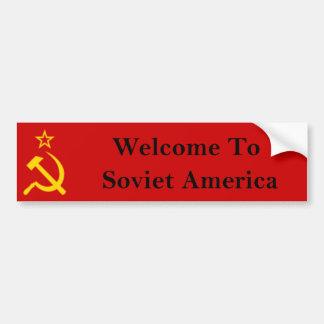 Welcome to Soviet America Bumper Sticker