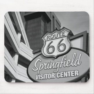 Welcome To Springfield Grayscale Mouse Pad