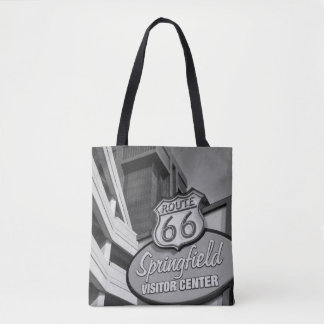 Welcome To Springfield Grayscale Tote Bag