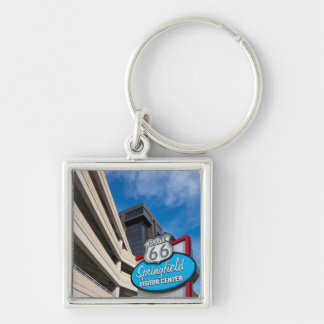 Welcome To Springfield MO Silver-Colored Square Key Ring
