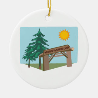 Welcome To Summer Camp! Ceramic Ornament