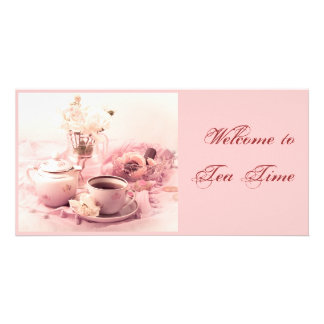 Welcome to Tea Time Customized Photo Card