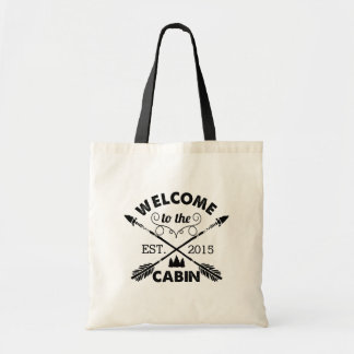 Welcome to the Cabin   Rustic Arrows Budget Tote Bag