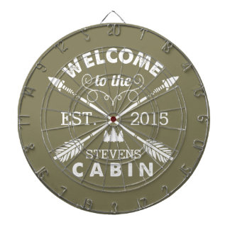 Welcome to the Cabin | Rustic Arrows Personalized Dartboard