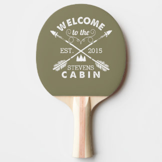 Welcome to the Cabin | Rustic Arrows Personalized Ping Pong Paddle