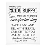Welcome to the Candy Buffet Custom Wedding Sign