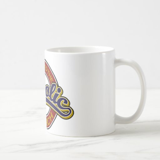Welcome to the Catholic Church Blue on Red Coffee Mug