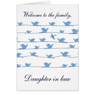 Welcome to the family Daughter in law Card
