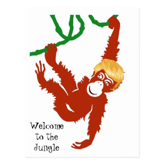 Welcome to the Jungle Orangatrump Postcard