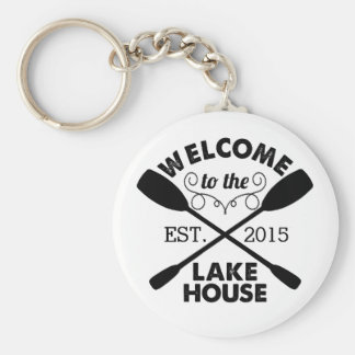 Welcome to the Lake House Key Ring