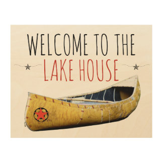 Welcome To The Lake House Wood Wall Art