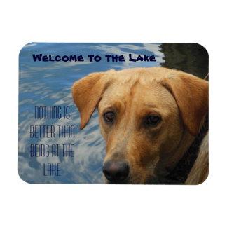 Welcome to the Lake Labrador Rectangular Photo Magnet