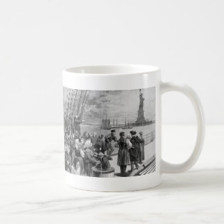 Welcome to the Land of Freedom from Ellis Island Classic White Coffee Mug