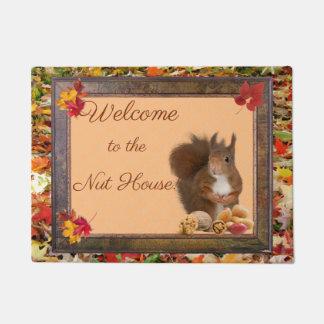Welcome to the Nut House Door mat