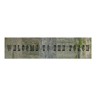 Welcome to the Porch Poster