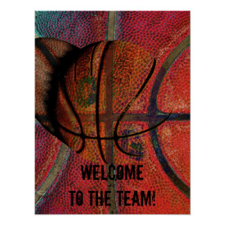 welcome to the team - basketball poster