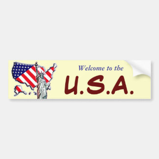 Welcome to the USA Bumper Sticker