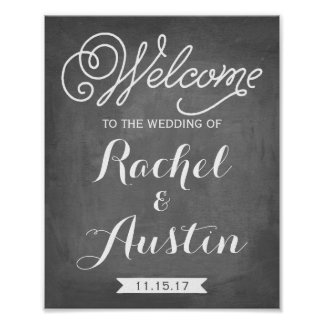 Welcome To The Wedding Sign | Wedding Decor Poster