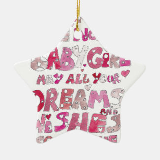 Welcome To The World Baby Girl Ceramic Ornament