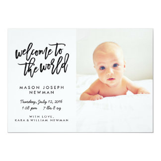 Welcome to the World Modern Birth Announcements