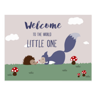Welcome to the World Postcard