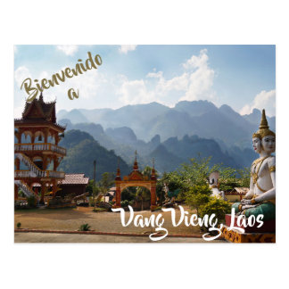 Welcome to Vang Vieng, Laos postcard