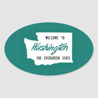 Welcome to Washington - USA Oval Sticker