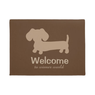 Welcome to Wiener Dog World Front Door mat