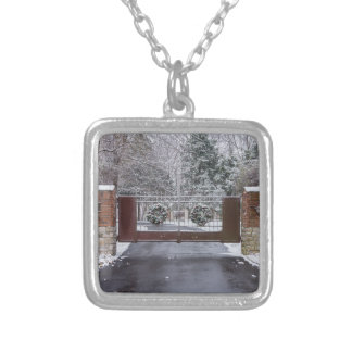 Welcome To Winter Silver Plated Necklace