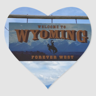 Welcome to Wyoming Heart Sticker