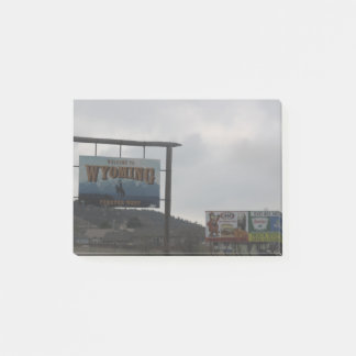 Welcome to Wyoming Post it Note
