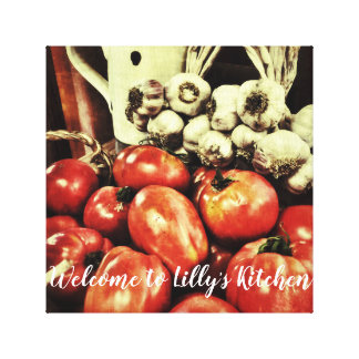 Welcome to your retro kitchen canvas print