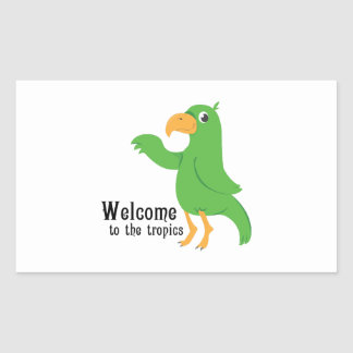 Welcome Tropics Rectangle Sticker