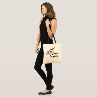 Welcome Wedding Personalized Tote Bag