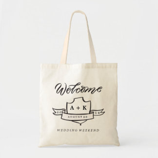 WELCOME WEDDING WEEKEND MONOGRAM wedding day tote