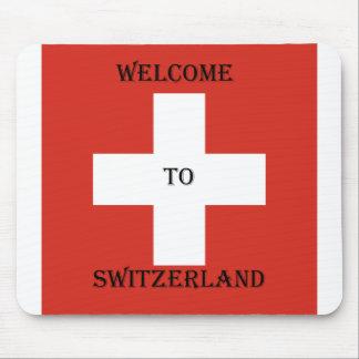 welcome you switzerland mousepad