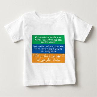 Welcome Your Neighbors - Spanish English Arabic Baby T-Shirt