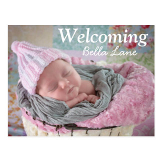 Welcoming New Baby Birthday Announcement Postcard