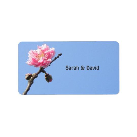 Welcoming Spring/Oriental Zen Wedding Favour Address Label