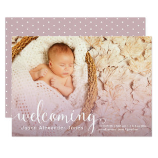 Welcoming the New Baby Birth Announcement