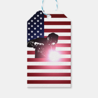 Welder and American Flag Gift Tags