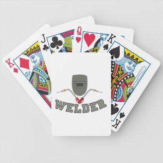 Welder Bicycle Poker Deck