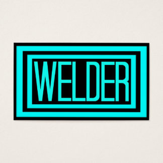 Welder Black and Teal Matted Frame